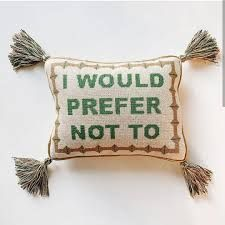 i would prefer not to needlepoint pillow - Google Search Needlepoint Pillows, Coin Purse, Throw Pillows, Google Search, Fall, Autumn, Toss Pillows, Cushions, Fall Season