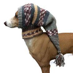 Sage green greyhound snood, dog hat, italian greyhound hat, dog clothes, dog clothing, pet hat, lurcher, galgo, whippet, dog snood