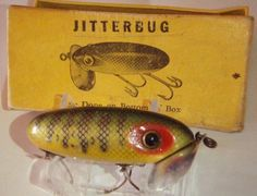 Vintage Fishing Lures W Box | Collectible Antique Lure Packaging -