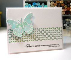 Memory Box Vivienne Butterfly die (98265), Darla Butterfly die (98264), Piestra Tile (98157) from the Happiness Blooms! Blog