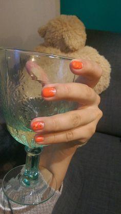 Shellac, nails, spring2016, oranj