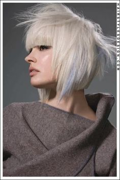 Platinum blonde bob with bangs fringe blue accent Gray Hair,Hair,Hairstyles that rock,Short Hair, Sleek Hairstyles, Party Hairstyles, Hairstyle Ideas, Harley Quinn, Blonde Bob With Bangs, Blond Bob, Medium Hair Styles, Short Hair Styles, Platinum Blonde Bobs