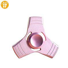 btamz Fidget Spinner Ultra Durable Pure Kupfer Triangle Toy Reduzierstück von Stress anti-anxiété für Erwachsene und Kinder, Pink - Fidget spinner (*Partner-Link)
