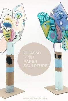 Picasso Style Paper Sculpture — ART CAMP Some sort of solitary amount resting the travel Sculpture Lessons, Sculpture Projects, Art Sculpture, Art Projects, Paper Sculptures, Kunst Picasso, Art Picasso, Picasso Style, Picasso Kids