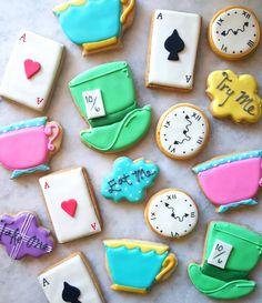 Alicia en el país de las maravillas galletas