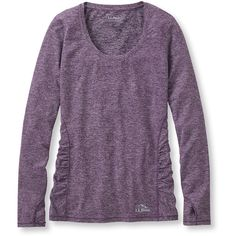L.L.Bean Essential Performance Top, Long-Sleeve ($35) ❤ liked on Polyvore featuring activewear and activewear tops