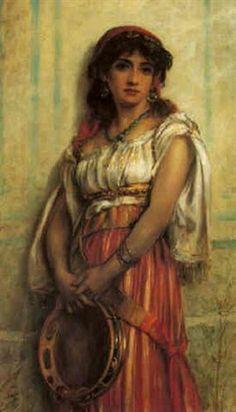Dancer Drawing, Gypsy Life, Tambourine, Drawing People, Vintage Photos, Boho, Drawings, Drum, Decoupage