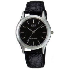 Casio Men's MTP1093E-1A Black Leather Quartz Watch with Black Dial - http://www.specialdaysgift.com/casio-mens-mtp1093e-1a-black-leather-quartz-watch-with-black-dial/