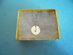 Beautiful J, L, K Coin Initial, Necklace | simplecrystal - Jewelry on ArtFire