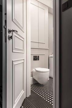 36 m² in einem Mietshaus - Today Pin Apartment Interior, Apartment Design, Modern Bathroom, Small Bathroom, Bathroom Interior Design, Interior Decorating, Toilet Room, Toilet Design, Door Design