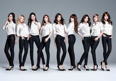 Girl's Generation poster Girls' Generation Tiffany Hwang Kim Taeyeon Jessica Jung Kim Hyoyeon Choi Sooyoung Kwon Yuri Im Yoona group of women high heels long hair wavy hair straight hair Snsd, Seohyun, Kim Hyoyeon, Kpop Girl Groups, Korean Girl Groups, Kpop Girls, Girls Generation, K Pop, Group Photo Poses