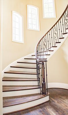 Architecture is the art and technique of designing Great buildings from the beginning of the time to now. Here we give you 24 Examples Of Great Architecture. Staircase Makeover, Staircase Railings, Wooden Staircases, Wooden Stairs, Modern Staircase, Stairways, Modern Railings For Stairs, Spiral Staircases, Iron Spindle Staircase