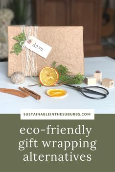 Switch to eco-friendly gift wrapping alternatives to reduce waste and save money this holiday season! Check out these 5 different options for recyclable and reusable gift wrapping alternatives. Reduce Waste, Zero Waste, Eco Friendly, Alternative, Wraps, Gift Wrapping, Place Card Holders, Holidays, Money