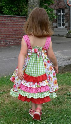 inspiration for back ruffle dress