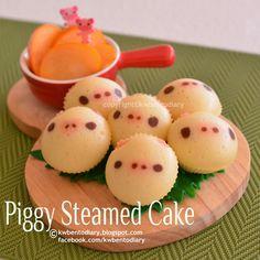 Karenwee's Bento Diary: Piggies Steamed Cake
