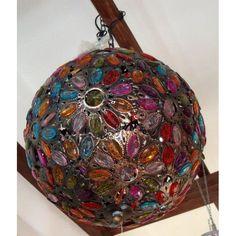 lampadario in resina e metallo diam 40 cm etnico luci - Abat Jour Color