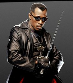 """Wesley Snipes as Blade in """"Blade"""". He all appeared in Demolition Man. http://www.imdb.com/name/nm0000648/"""