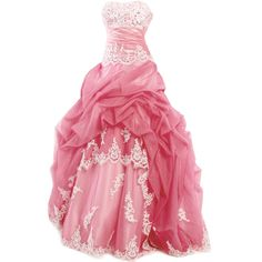 edited by Satinee ❤ liked on Polyvore featuring dresses, gowns, vestidos, long dresses, pink ball gown, pink gown, pink dress, pink evening gowns and pink evening dress