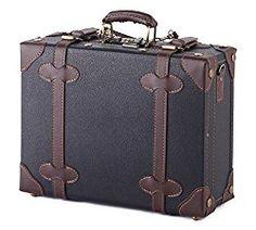MOIERG Vintage Trunk Box Case Bag Luggage 2tone