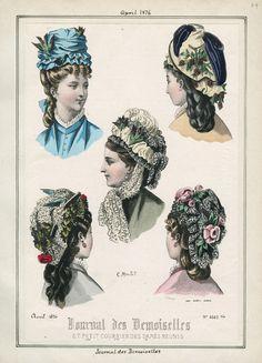 Journal des Demoiselles, Saturday, April 1, 1876 | Casey Fashion Plates Detail | Los Angeles Public Library