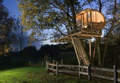 How to Build a tree house at Backyard. DIY tree house or play house step by step. Dozen of new design and ideas. Beautiful Tree Houses, Cool Tree Houses, Beautiful Homes, House Beautiful, Beautiful Beautiful, Houses Houses, Amazing Houses, Tiny Houses, Modern Tree House