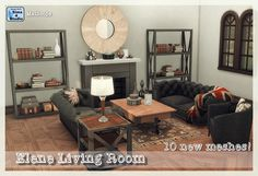 Sims 4 CC's - The Best: Elene Living Room Set by Mathcope
