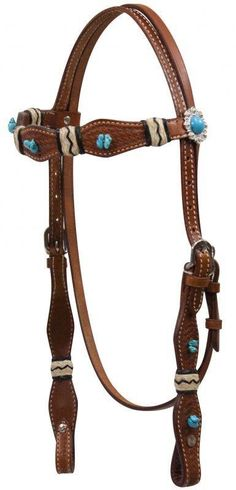 Headstall with turquoise stones. Can be purchased at www.facebook.com/cowgirlsparkle