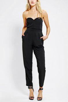 Sparkle & Fade Strapless Sweetheart Jumpsuit - Urban Outfitters