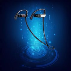 Strereo Bluetooth Earphone Headphone Wireless Sport running Headset with Microphone