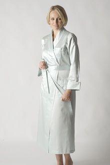 Stylish long jade cotton sateen robe Women s Sleepwear 06953ce20
