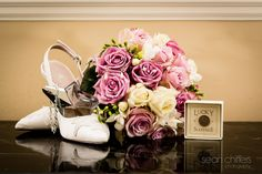 Brides flowers, shoes and jewellery