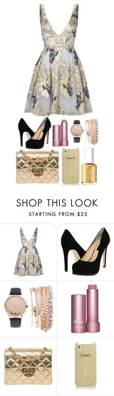 """Untitled #822"" by overdue22 ❤ liked on Polyvore featuring Notte by Marchesa, Chinese Laundry, Jessica Carlyle, Chanel, Kate Spade, Essie and bup"