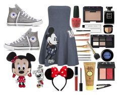 """""""My fave outfit for disney"""" by elledisneylover ❤ liked on Polyvore featuring Paul & Joe Sister, Converse, Disney, Christian Dior, OPI, NARS Cosmetics, Chanel, Bobbi Brown Cosmetics, Marc Jacobs and Sun Bum"""
