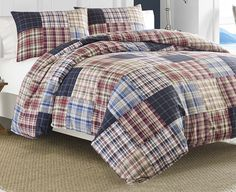 NAUTICA BLAINE PATCHWORK COMFORTER SET  See this spectacular bed set over at Vintagebedding.net