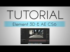 ▶ After Effects | Element 3D and AE CS6 Motion Tracking Tutorial + 1k Subs! - YouTube