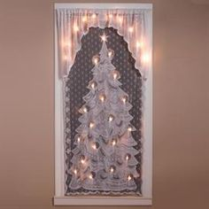 Cordless Light-Up LED Lace Panel with Attached Valance