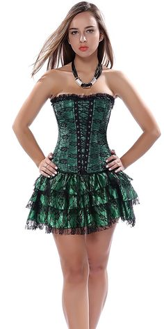 95931a94eca Blidece Fashion Sexy Vintage Lace Gothic Corset With Mini Tutu Skirt    To  view further