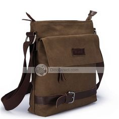 69efe5a707 MUZEE Fashion Zipper Flap Canvas Shoulder Bag - DinoDirect.com