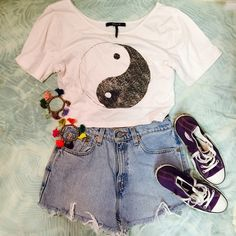 Nollie Yin Yang Crop Top! Black and white yin yang crop top! Very soft material! Perfect condition! Nollie brand! Nollie Tops Crop Tops