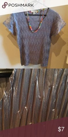 Silver top Silver shell top from the dressbarn size large.  NWOT dressbarn Tops Blouses
