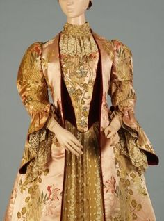 Old Rags - Tea dress by Worth, 1890's Paris, Kent State