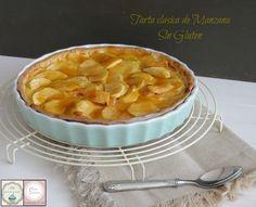 Tarta de manzana con base de masa quebrada sin gluten