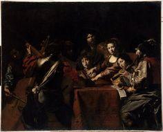 Valentin de Boulogne, Un concert, v. 1628-30, huile sur toile, 175x216 cm, Paris, Musée du Louvre   © RMN-Grand Palais (musée du Louvre) / Thierry Le Mage