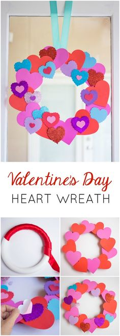 Valentine's Day heart wreath - made for under $15 from inexpensive foam hearts!
