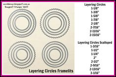 Nicole Bonar Independent Stampin' Up!® Demonstrator Australia: Layering Framelits Part 1 - Circles
