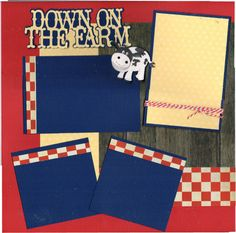 2 page Scrapbooking Layout Kit  Down on the Farm by CropALatteToGo, $10.00