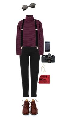 """""""skam"""" by julietteisinthe80s on Polyvore featuring Topshop, MM6 Maison Margiela, Rosie Assoulin and Nikon"""