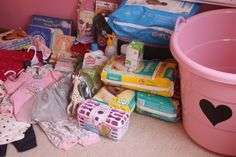 baby showerbasket (best gifts ever)- i made one of these for my cousin, and got most of this same stuff- glad to see someone made a post on something similar. pin this even if you are just going to be a new mommy. you will need ALL of these things!