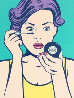 Make-up through pop art