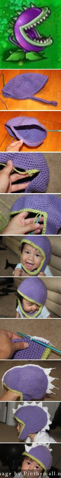 http://make2give.com/blogs/?p=319 How to make the plants vs zombies hat. The chomper hat